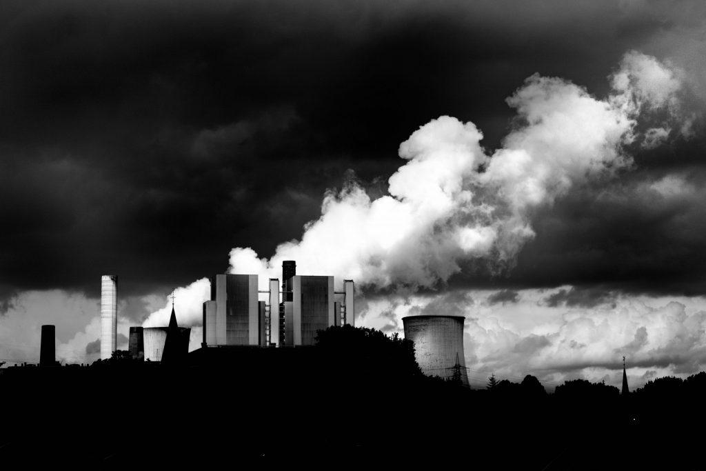 Blick auf das Kohlekraftwerk